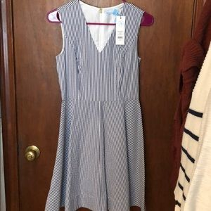 Draper James seersucker love circle dress
